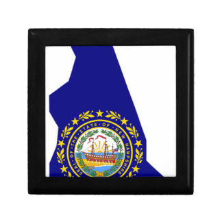 Flag Map Of New Hampshire Gift Box