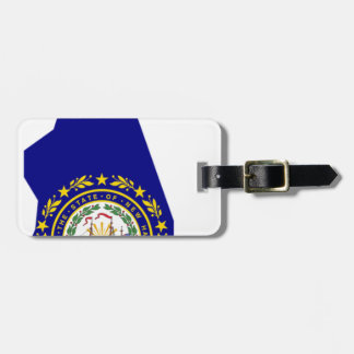 Flag Map Of New Hampshire Luggage Tag