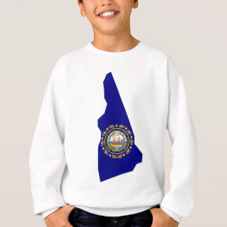 Flag Map Of New Hampshire Sweatshirt