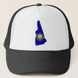 Flag Map Of New Hampshire Trucker Hat