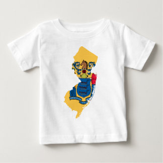 Flag Map Of New Jersey Baby T-Shirt