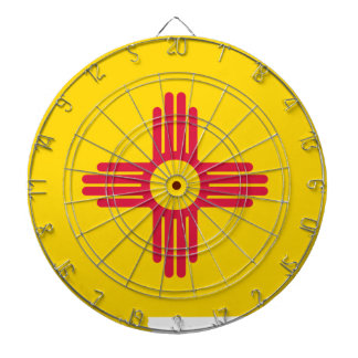 Flag Map Of New Mexico Dartboard