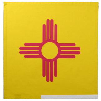 Flag Map Of New Mexico Napkin