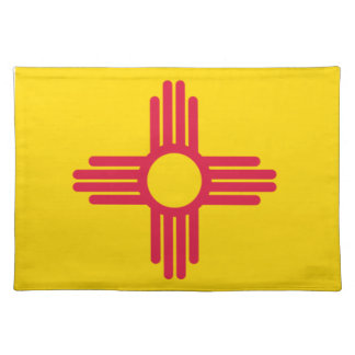 Flag Map Of New Mexico Placemat