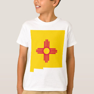 Flag Map Of New Mexico T-Shirt