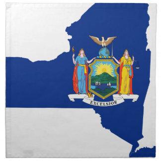 Flag Map Of New York Napkin
