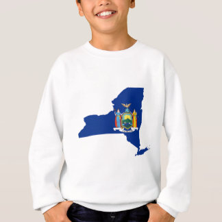 Flag Map Of New York Sweatshirt