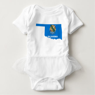 Flag Map Of Oklahoma Baby Bodysuit