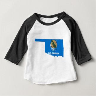Flag Map Of Oklahoma Baby T-Shirt