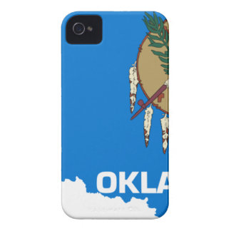 Flag Map Of Oklahoma Case-Mate iPhone 4 Case