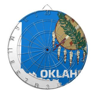 Flag Map Of Oklahoma Dartboard