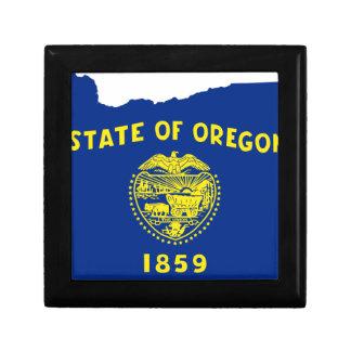 Flag Map Of Oregon Gift Box