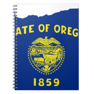 Flag Map Of Oregon Notebook