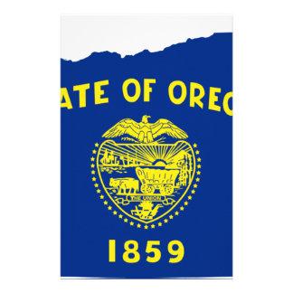 Flag Map Of Oregon Stationery