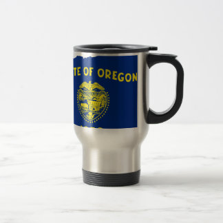 Flag Map Of Oregon Travel Mug