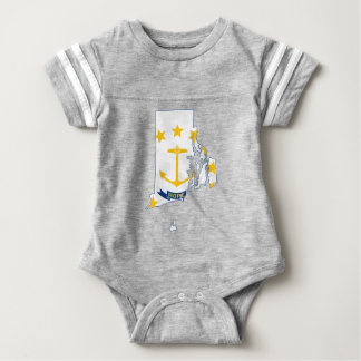 Flag Map Of Rhode Island Baby Bodysuit