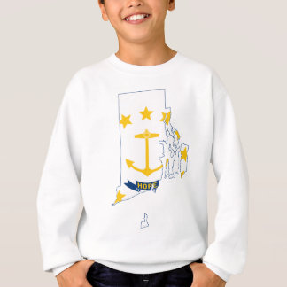 Flag Map Of Rhode Island Sweatshirt
