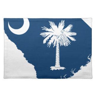 Flag Map Of South Carolina Placemat