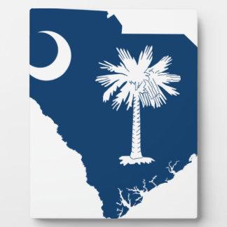 Flag Map Of South Carolina Plaque