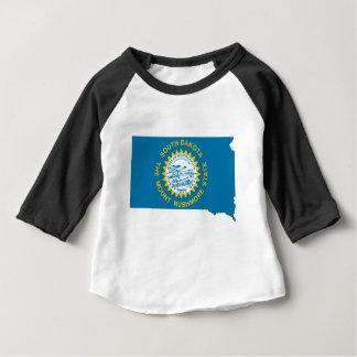 Flag Map Of South Dakota Baby T-Shirt
