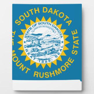 Flag Map Of South Dakota Plaque