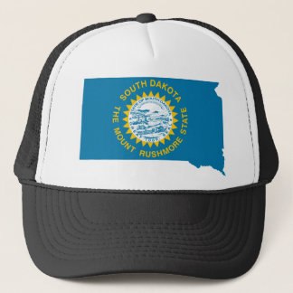 Flag Map Of South Dakota Trucker Hat