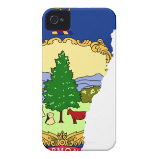 Flag Map Of Vermont iPhone 4 Cover