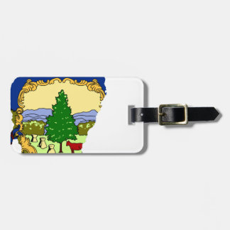 Flag Map Of Vermont Luggage Tag