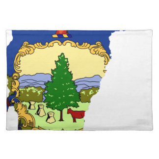 Flag Map Of Vermont Placemat