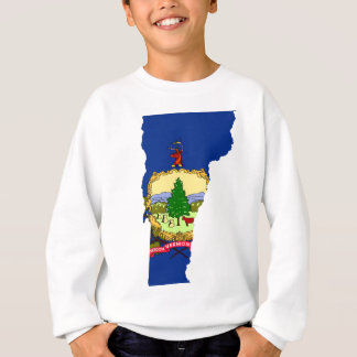 Flag Map Of Vermont Sweatshirt