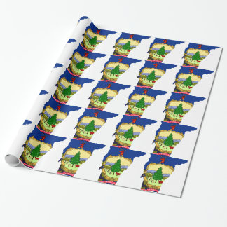 Flag Map Of Vermont Wrapping Paper