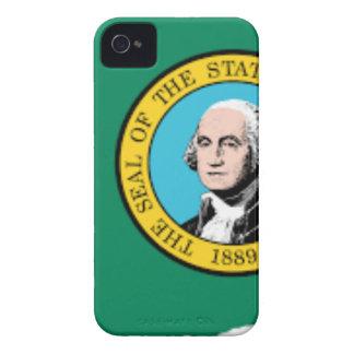 Flag Map Of Washington Case-Mate iPhone 4 Cases