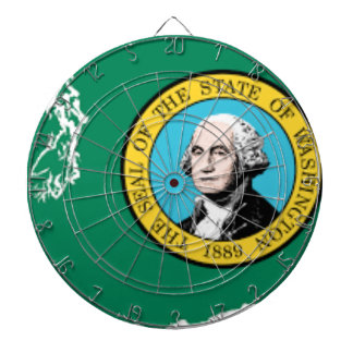 Flag Map Of Washington Dartboard
