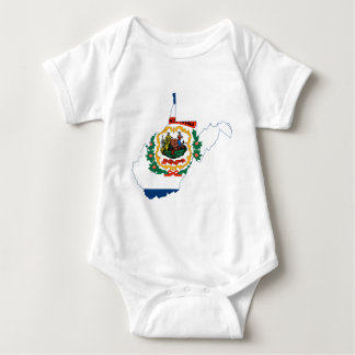 Flag Map Of West Virginia Baby Bodysuit