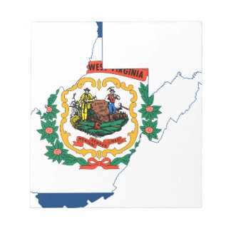 Flag Map Of West Virginia Notepad