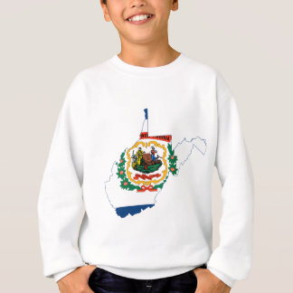 Flag Map Of West Virginia Sweatshirt
