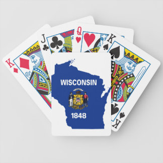 Flag Map Of Wisconsin Bicycle Playing Cards