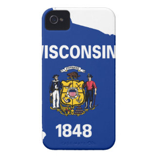Flag Map Of Wisconsin Case-Mate iPhone 4 Case