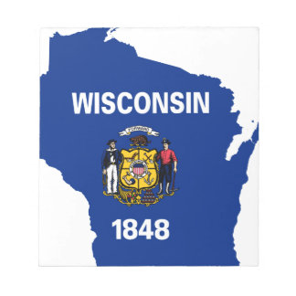 Flag Map Of Wisconsin Notepad