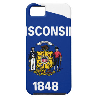 Flag Map Of Wisconsin Tough iPhone 5 Case