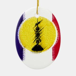 flag ncl FRA KNK Ceramic Ornament