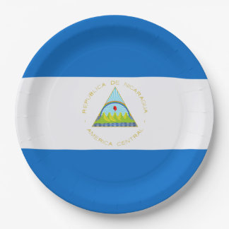 Flag: Nicaragua Paper Plate
