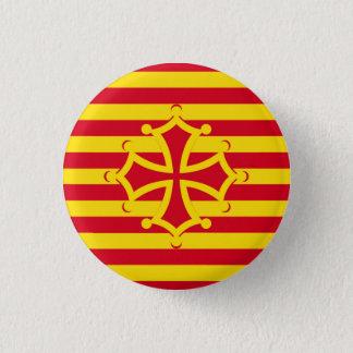 flag occitanie swipes in 3 cm round badge