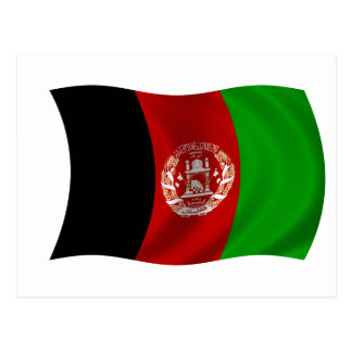 Flag of Afghanistan Postcard