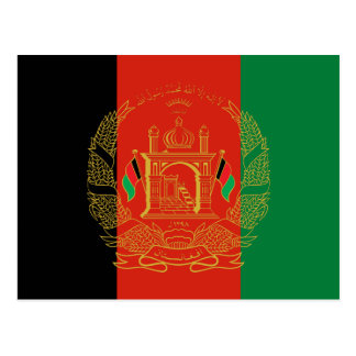 Flag of Afghanistan Postcard