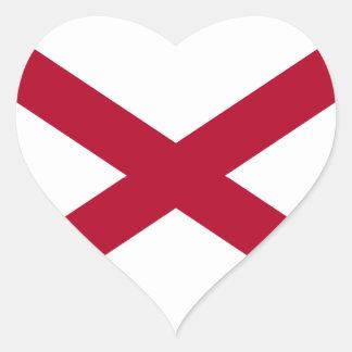 Flag of Alabama Heart Sticker