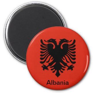 Flag of Albania 6 Cm Round Magnet