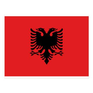 Flag of Albania - Flamuri i Shqipërisë Postcard