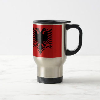 Flag of Albania - Flamuri i Shqipërisë Travel Mug