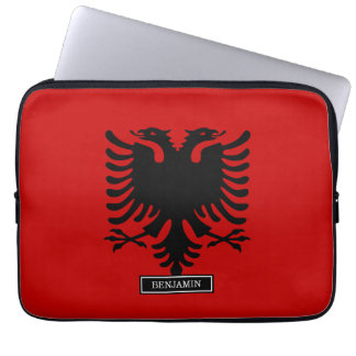 Flag of Albania Laptop Computer Sleeve